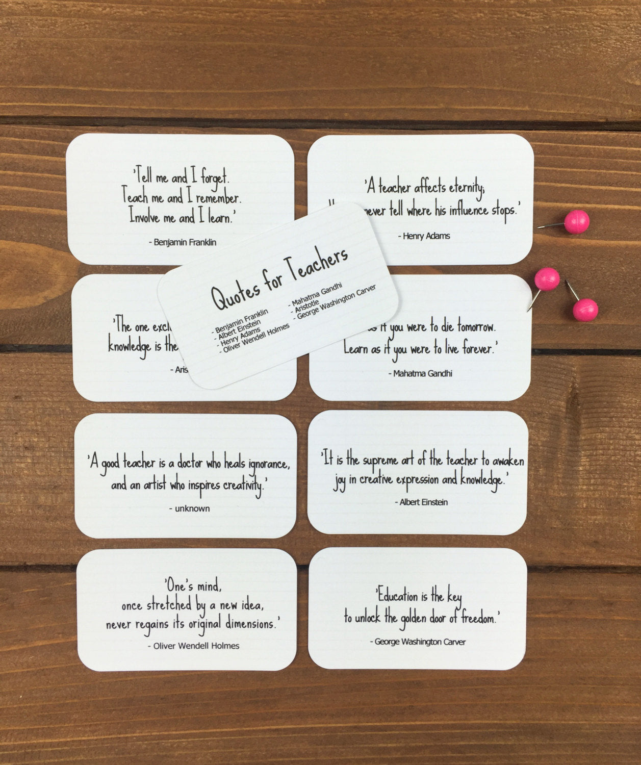 Teacher Quote Cards - Back to School Teacher Gift Ideas, Teacher Quotes, Teacher Gifts End of Year, Teacher Gift Basket - 8 Mini Quote Cards