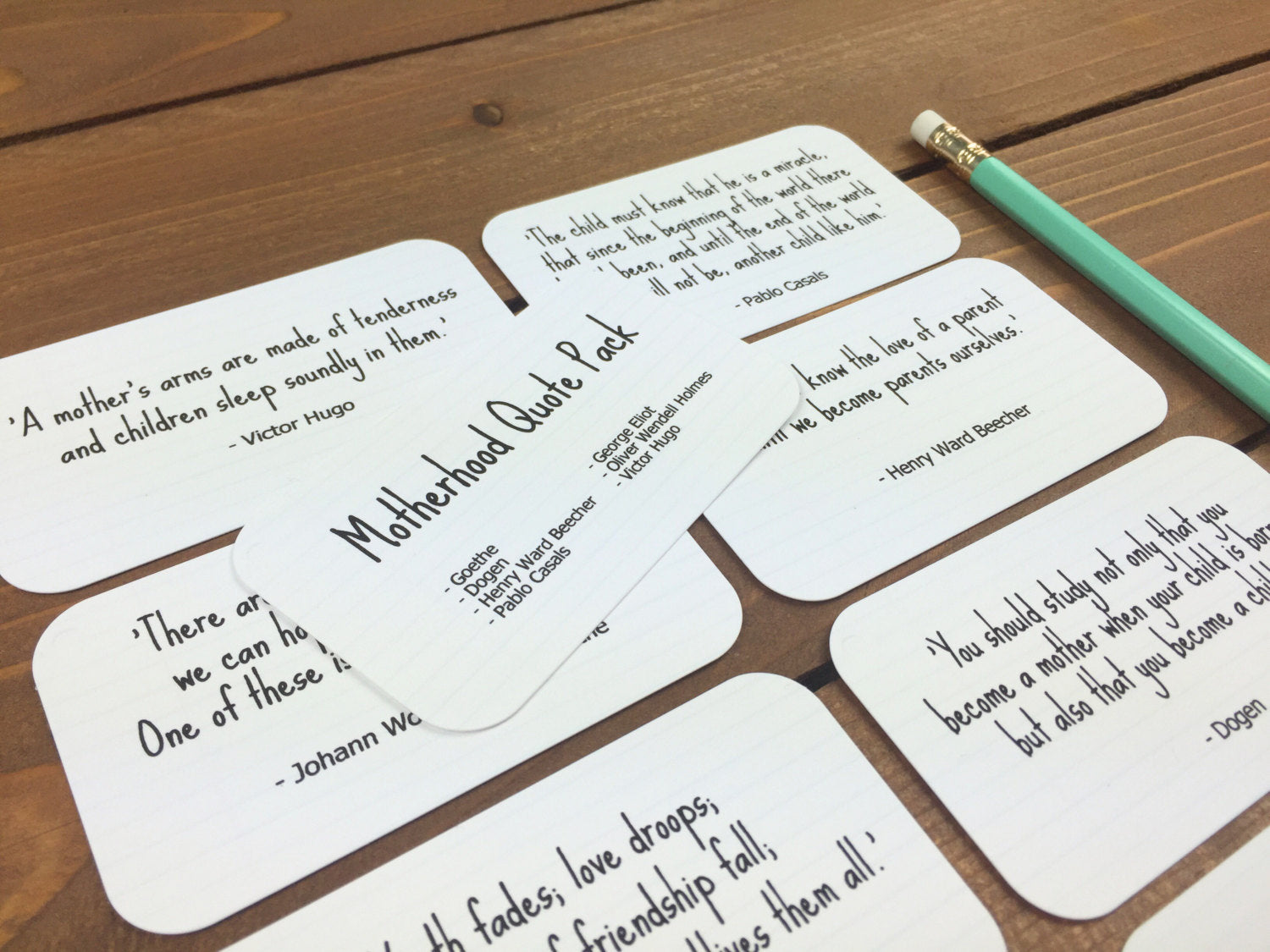 Mom Quotes - New Mom Gift for Mom from Daughter, Mothers Day Gift, Mother In Law Gift, Mom Birthday Gift - Set of 8 Mini Quote Cards