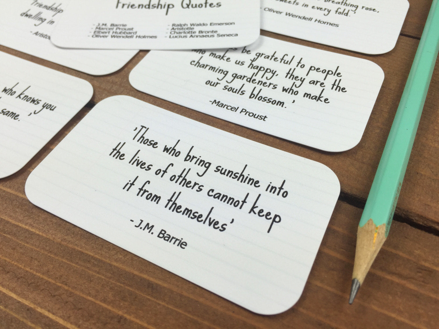 Friendship Quotes, Friendship Gift, Long Distance Friendship, Best Friend Gift for Friend Moving Away, Friends  - Set of 8 Mini Quote Cards