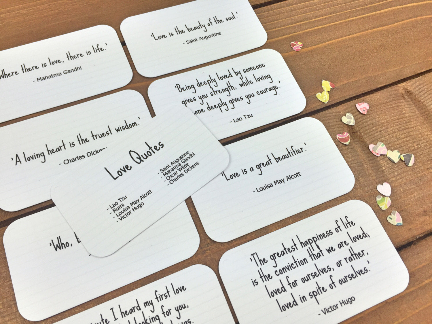 Love Quotes Set Of 8 Mini Quote Cards Whimsicals Paperie