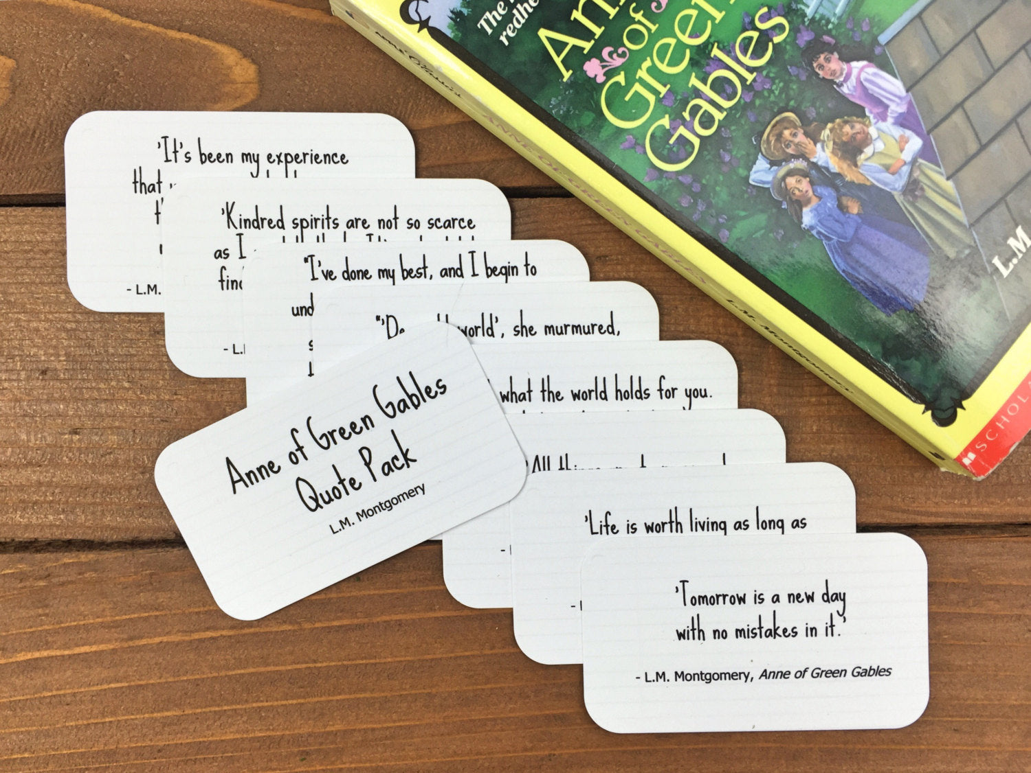 Anne of Green Gables Quote Cards - Anne of Green Gables Party Favor, Quotes for Kids, Anne of Green Gables Quotes -Set of 8 Mini Quote Cards