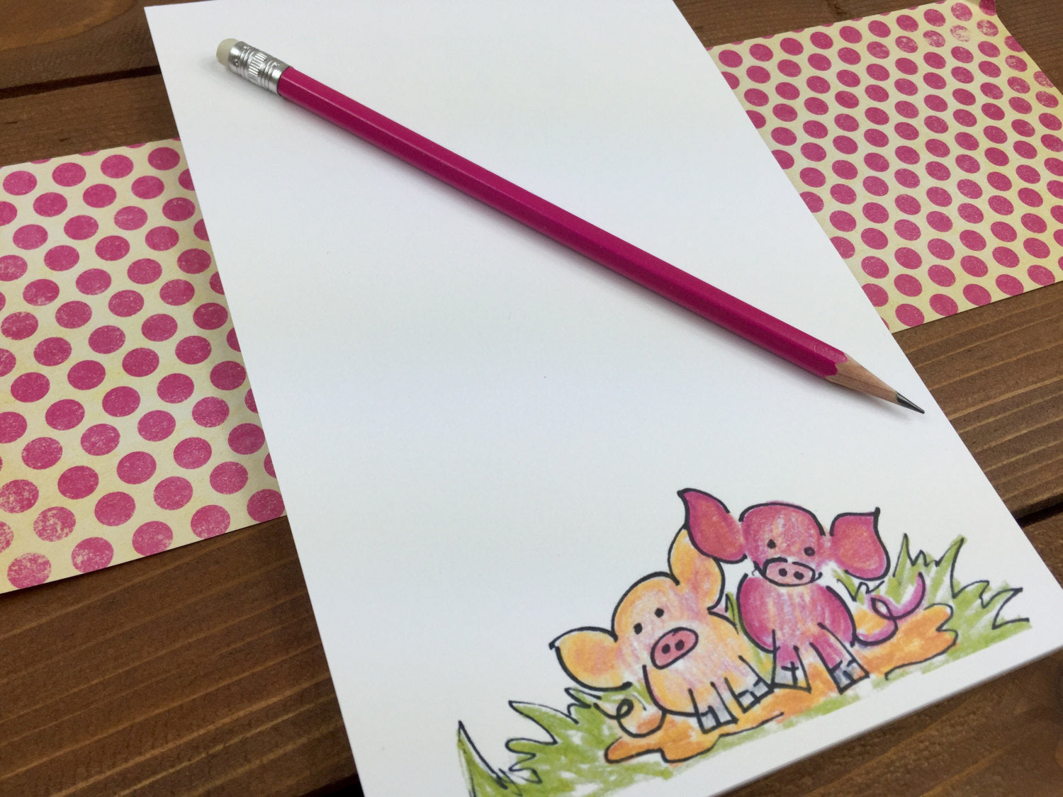 Pig Notepad, Custom Notepad, Pig Decor, Gift for Kids Gift, Pig Party, Personalized Gift, Animal Lover Gift, Cute Pig - 5.5 x 8.5