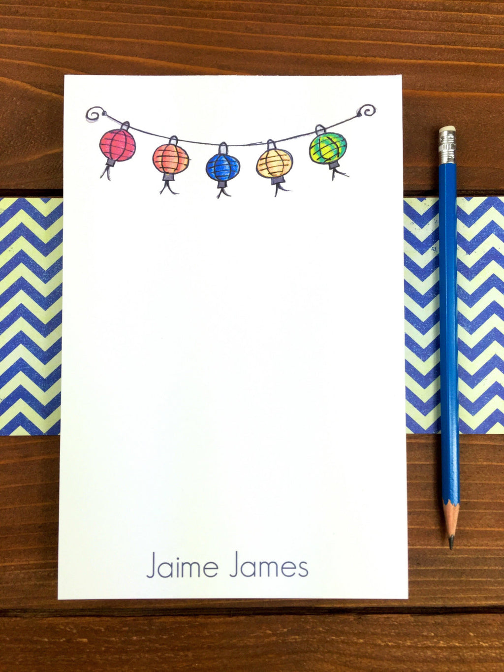 Paper Lantern Notepad - Personalization Available