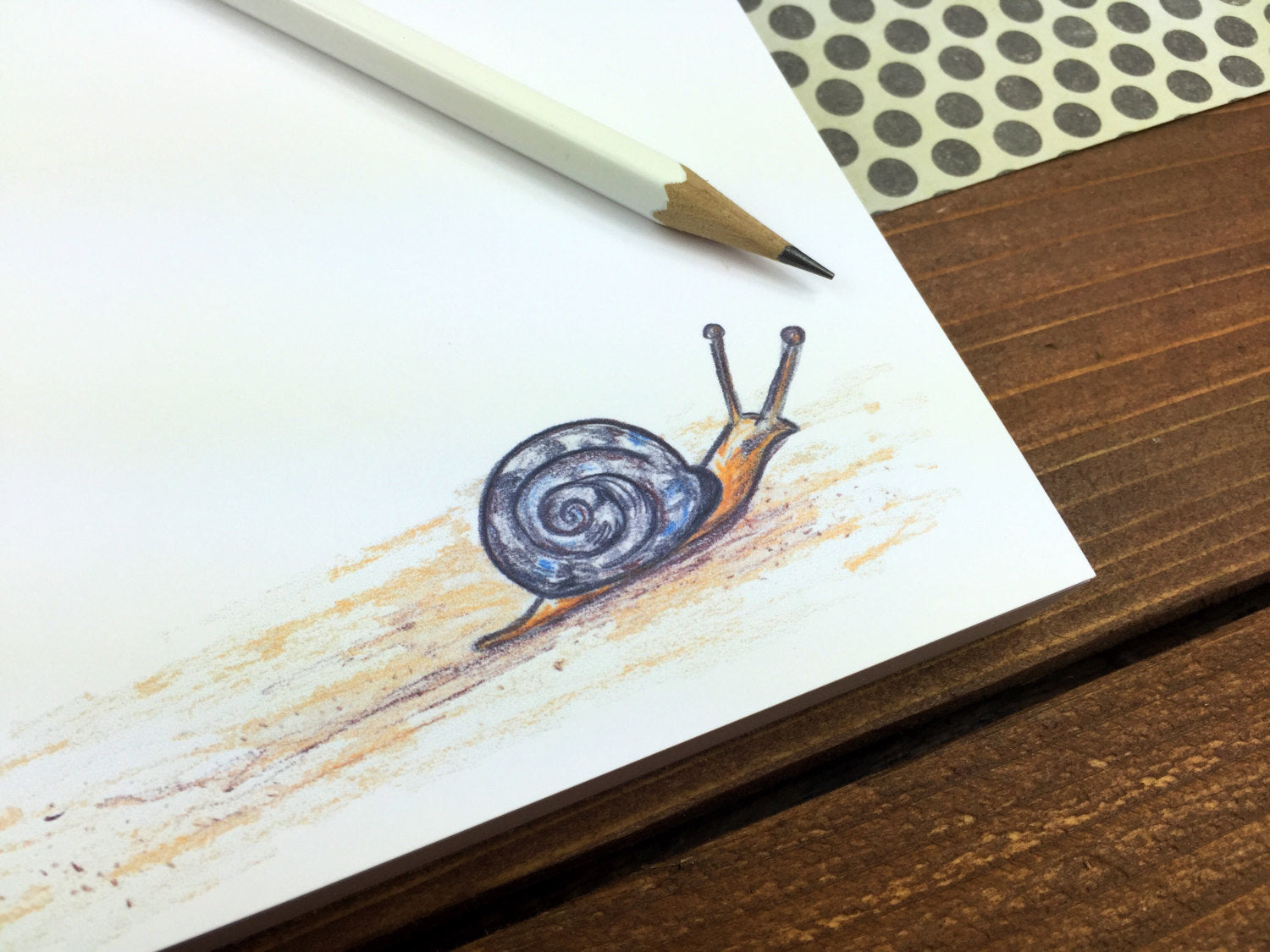 Snail Notepad - Personalization Available