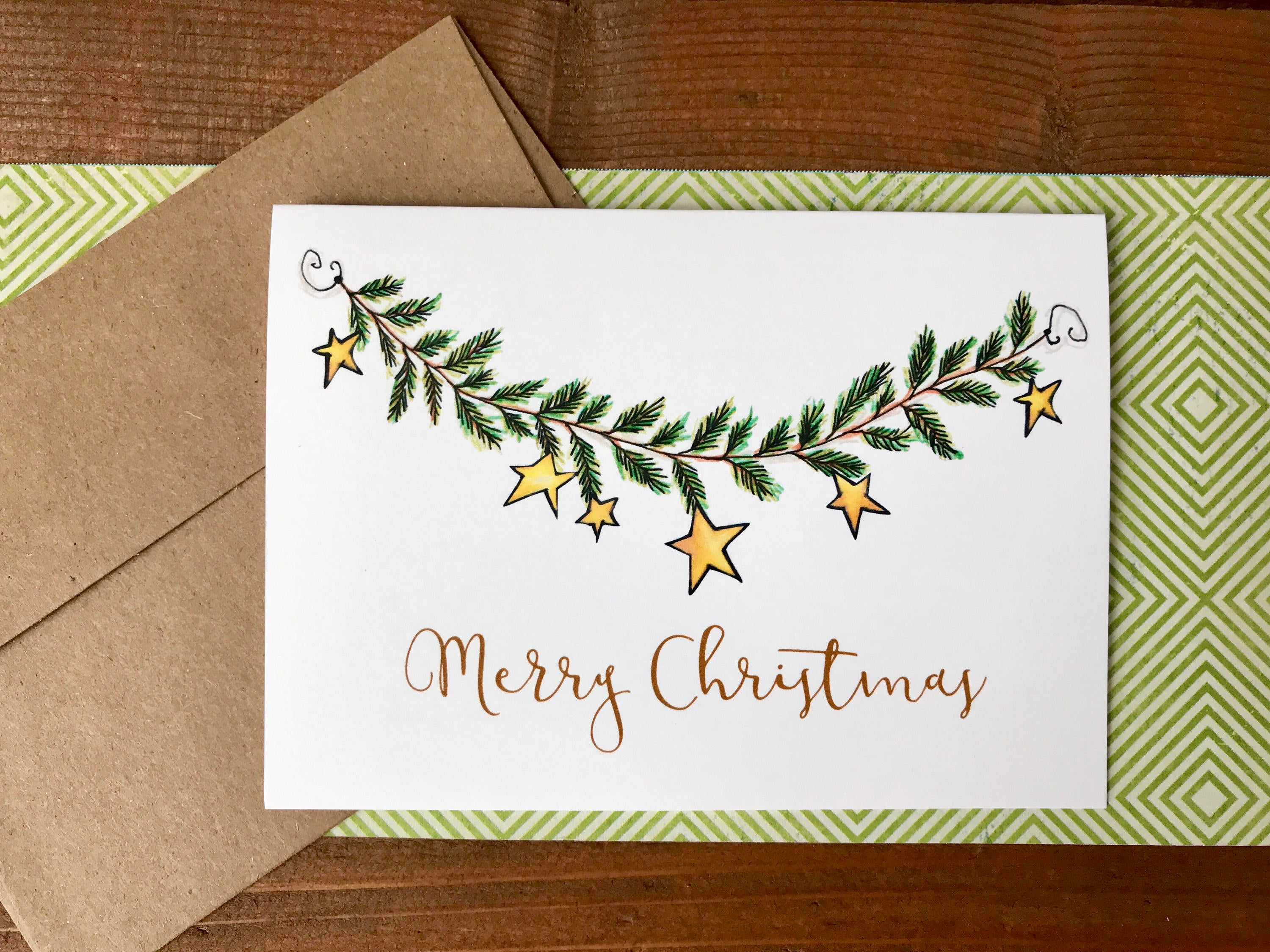 Garland Holiday Cards, Choose Your Message - Boxed Set of 8