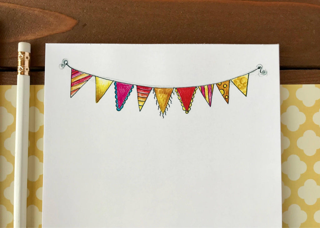 Bunting Notepad - Personalization Available