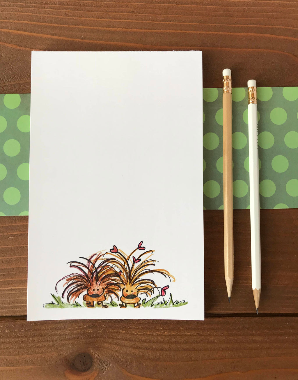 Porcupine Notepad - Personalized Cute Porcupine Gift - 5.5 x 8.5