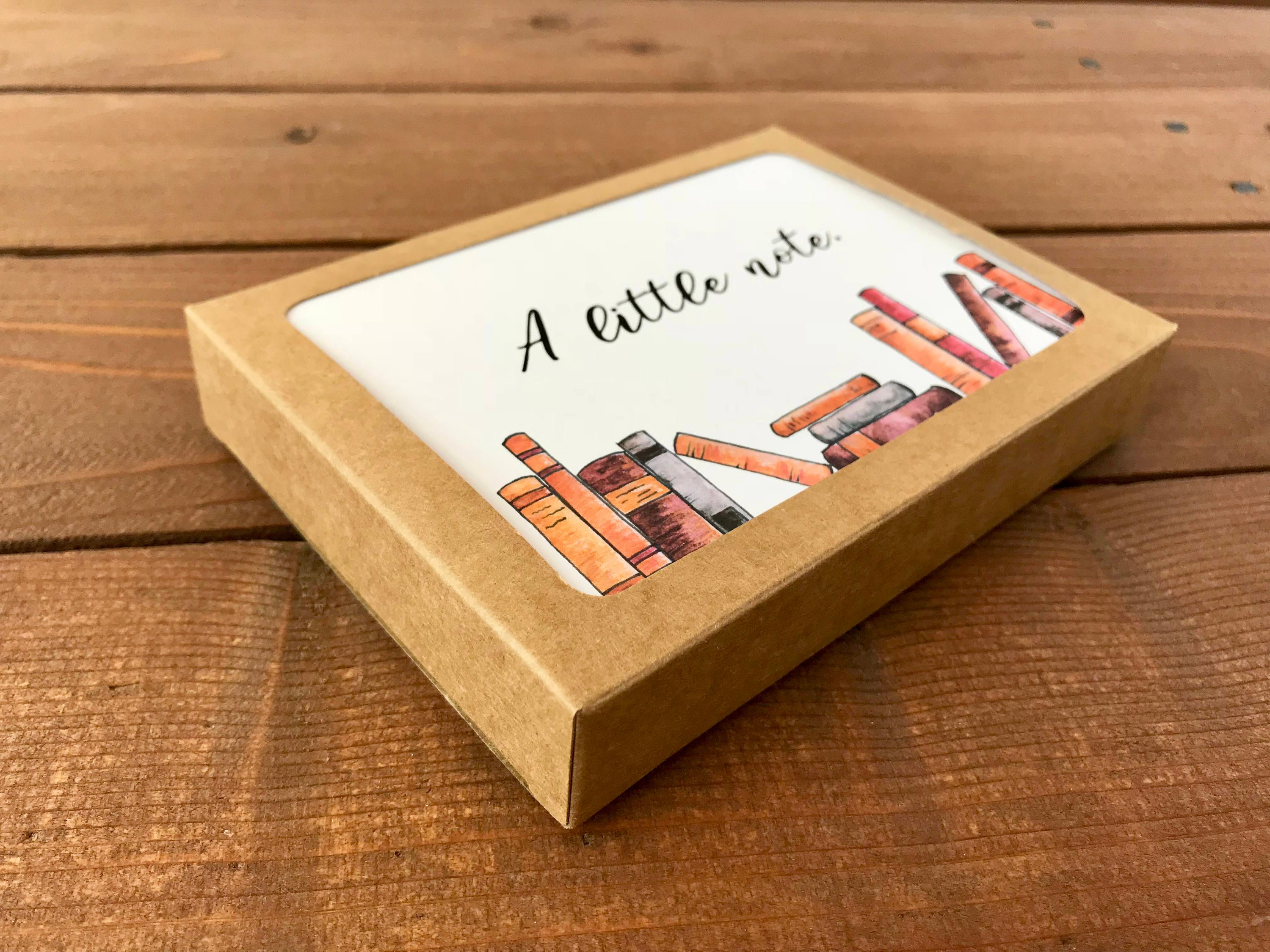 Book Card Set, Choose Your Own Saying, Professor Gift, Book Lover Gift - Boxed Set of 8 Cards