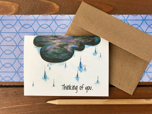Rain Cloud Thinking of You Cards - Boxed Set of 8 Cards
