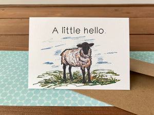 Sheep Card, Choose Your Own Saying, Happy Birthday to Ewe - Boxed Set of 8 Cards