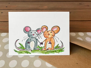 Mice Thinking of You Cards, Choose Your Own Saying, Sympathy Cards - Boxed Set of 8