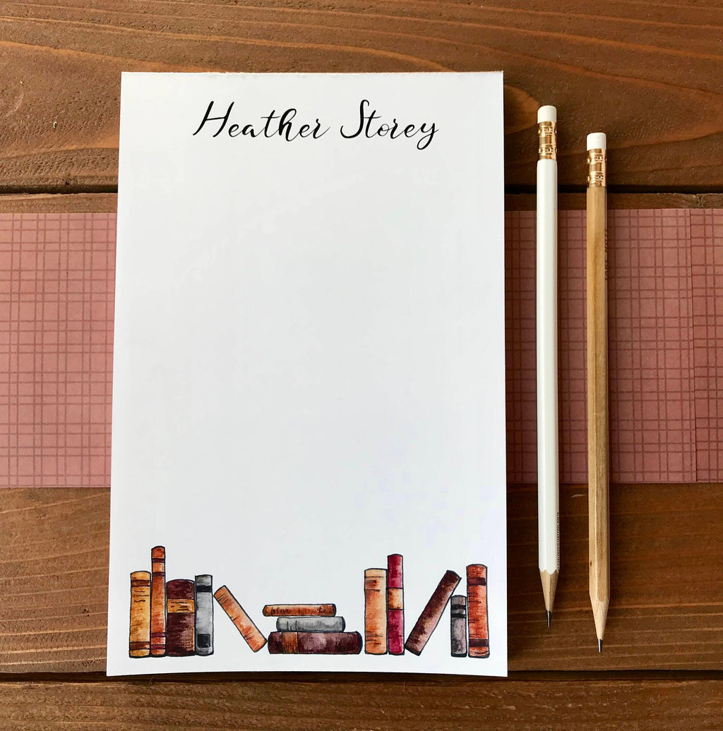 Book Notepad - Personalized Book Lover Gift - 5.5 x 8.5