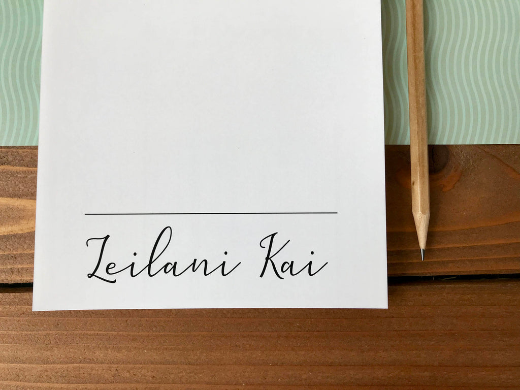 Personalized Name Notepad with Different Font Options
