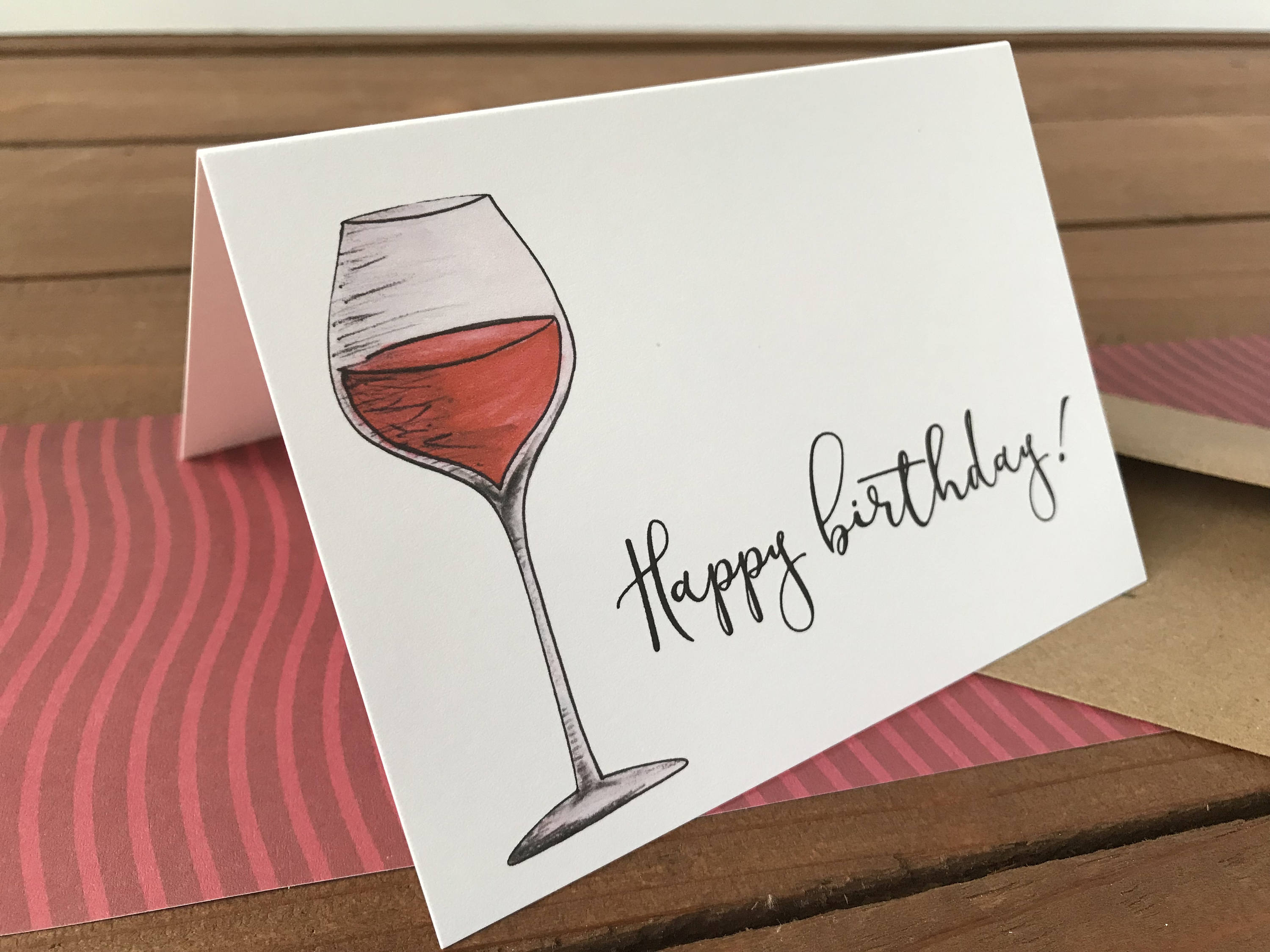 Wine Note Cards, Choose Your Own Saying, Wine Lover Gift - Boxed Set of 8