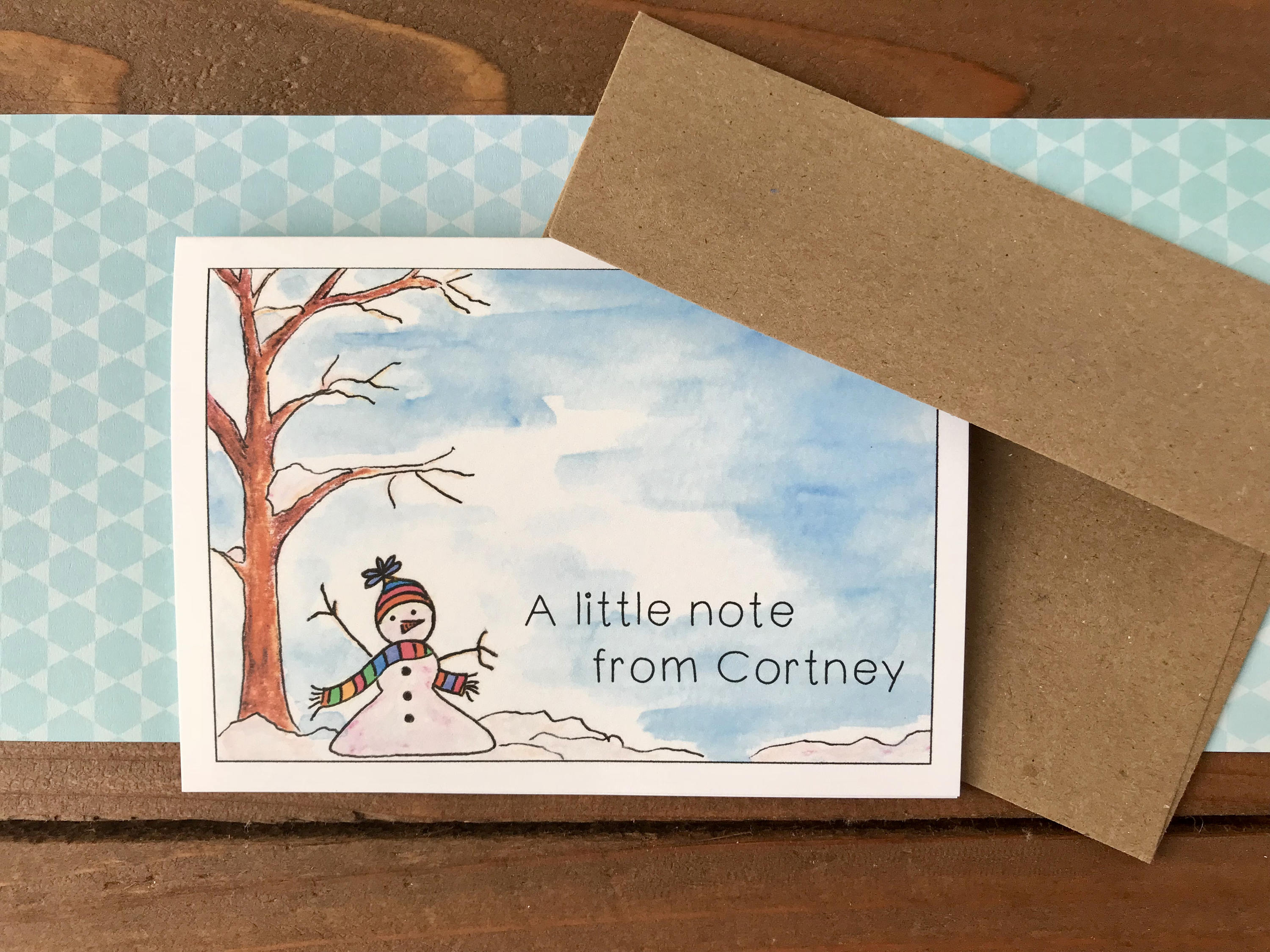 Snowman Holiday Cards, Choose Your Message - Boxed Set of 8 ...