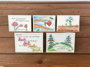 Scripture Cards, Set 6, Refuge - Assorted Set of 5 Cards
