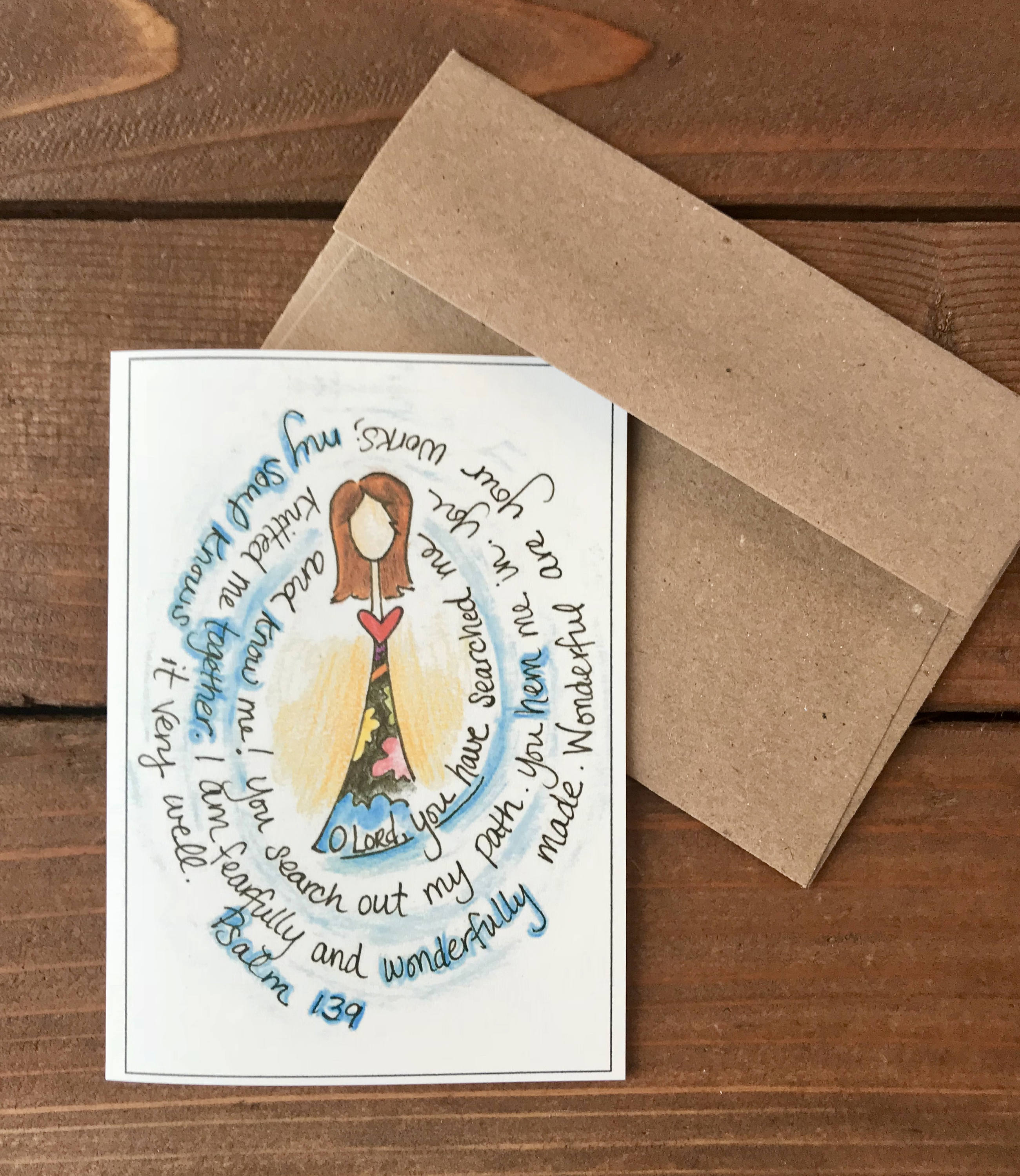 Psalm 139 - Wonderfully Made Scripture Card