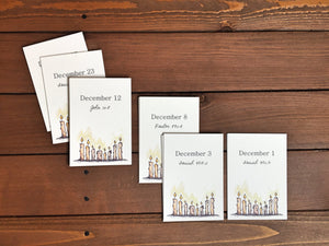 Scripture Advent Calendar Card Deck, Paper Advent Calender, Christmas Advent Calendar, Advent Calendar Scripture - 3.5 x 5 - Set of 25 Cards