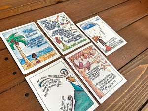 Illustrated Scripture Memory Cards | Set of 30 in 6 Assorted Packs