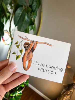 Sloth Notecards, Choose Your Message - Boxed Set of 8