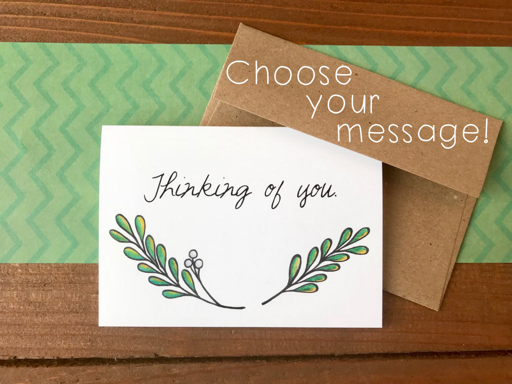 Mistletoe Notecards, Choose Your Message - Boxed Set of 8