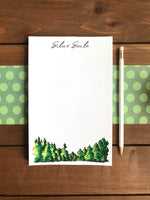Pine Trees Notepad  - Personalization Available