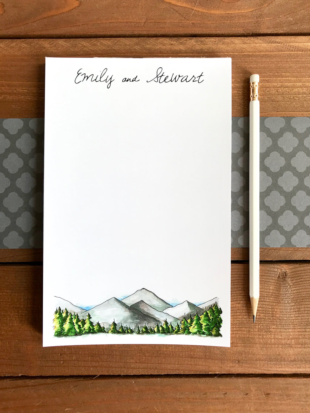 Mountains Notepad  - Personalization Available