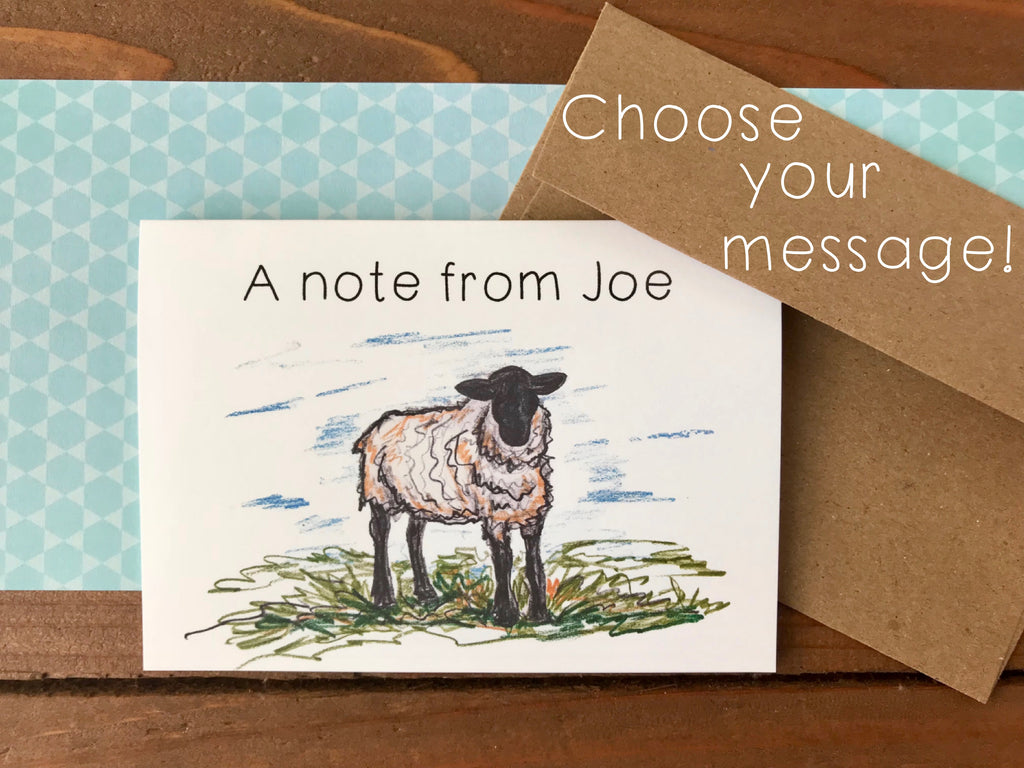 Sheep Cards, Choose Your Message - Boxed Set of 8