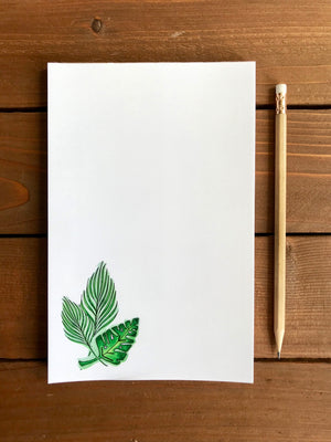 Tropical Leaves Notepad  - Personalization Available