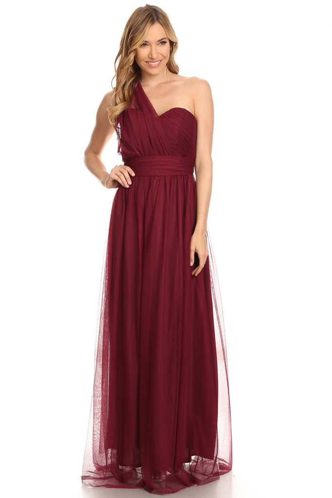 3566032f22c ... Tulle Convertible Dress Strapless Romantic Endless Gown - Multiple  Colors - Bon Robe Bridesmaid ...
