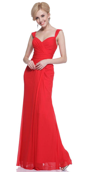 Vivienne Wide Strap Empire Evening Dress - Bon Robe Bridesmaid
