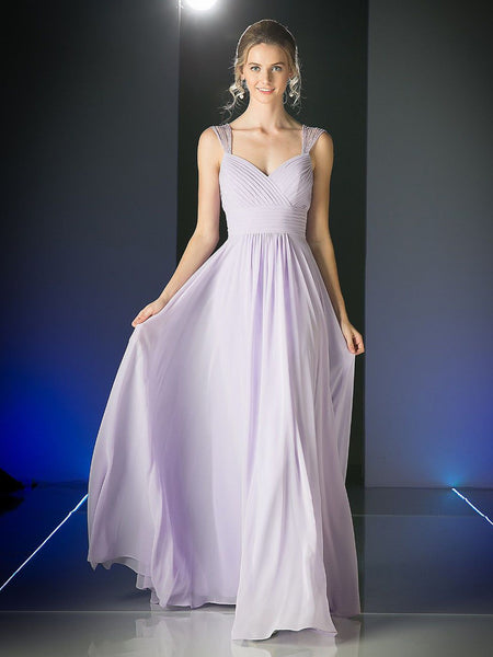Sophia Beaded Capped Sleeves Dress - Bon Robe Bridesmaid