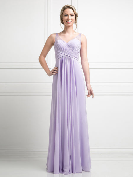 Josephine Sweetheart Beaded Illusion Shoulder Dress - Bon Robe Bridesmaid