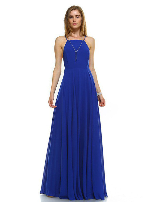 Enduring Love Flowy Georgette Maxi Dress in Royal Blue - Bon Robe Bridesmaid