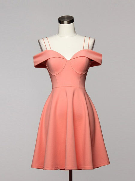 Vintage Sensation Strappy Off Shoulder Flare Bustier Dress in Peach - Bon Robe Dresses
