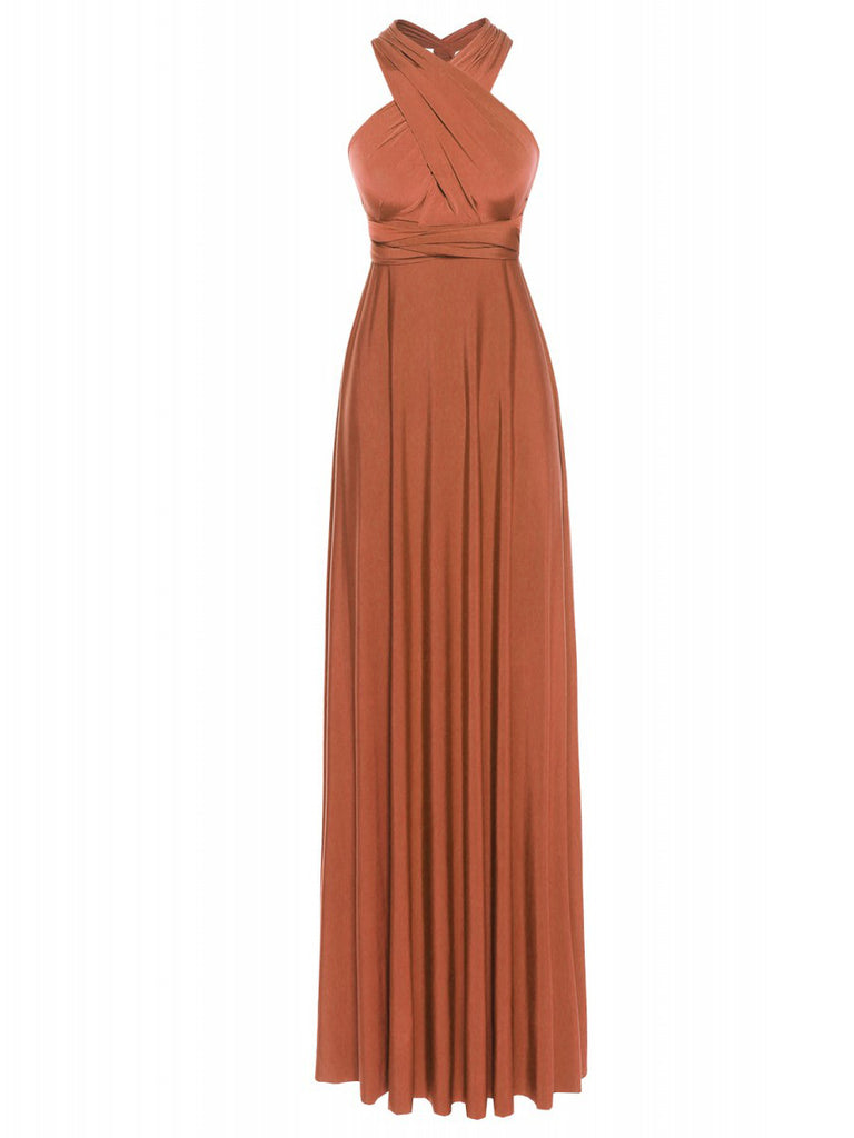 Multi Way Wrap Infinity Long Maxi Jersey Convertible Dress