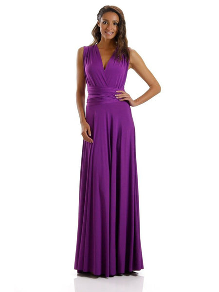 Poly Long Infinity Jersey Maxi Convertible Dress - Multiple Colors - Bon Robe Bridesmaid