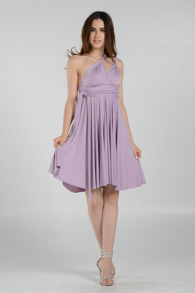 Poly Short Infinity Jersey Convertible Dress - Multiple Colors - Bon Robe Bridesmaid