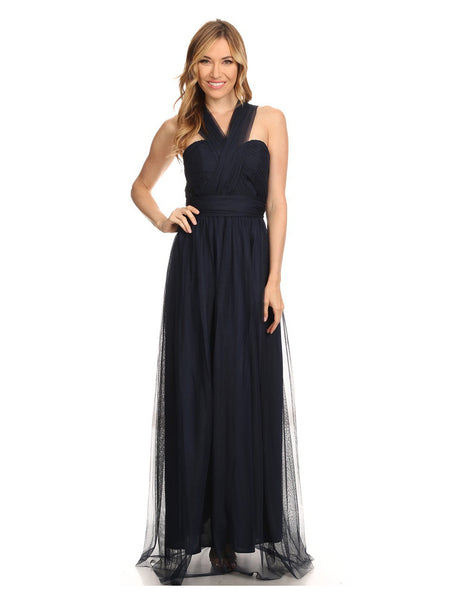 Tulle Convertible Dress Strapless Romantic Endless Gown - Multiple Colors - Bon Robe Bridesmaid