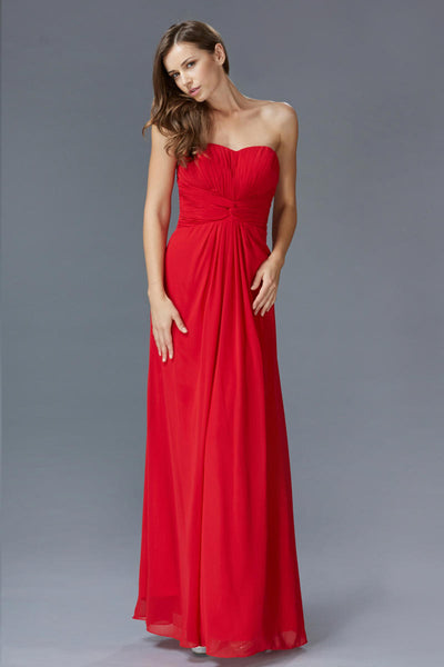 Sweetheart Twisted Pleated Bodice Chiffon Dress Elizabeth K GL2068 - Bon Robe Bridesmaid