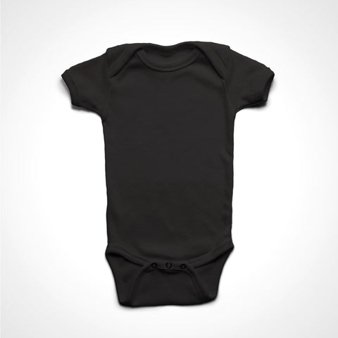 A BLACK T-Shirt with the  ' BLANK T-SHIRT - GILDAN - 4400 - INFANT ' design.