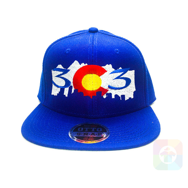 303 Colorado Mountains Flat Six Panel Pro Style Snapback OttoCap #1365