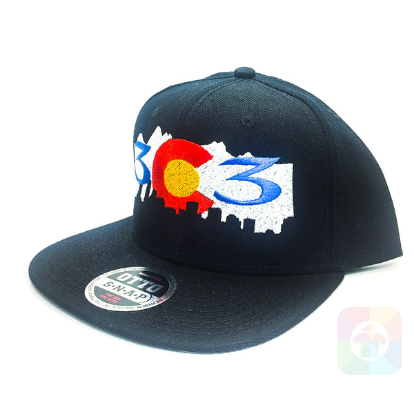 303 Colorado Mountains Flat Six Panel Pro Style Snapback OttoCap #1407