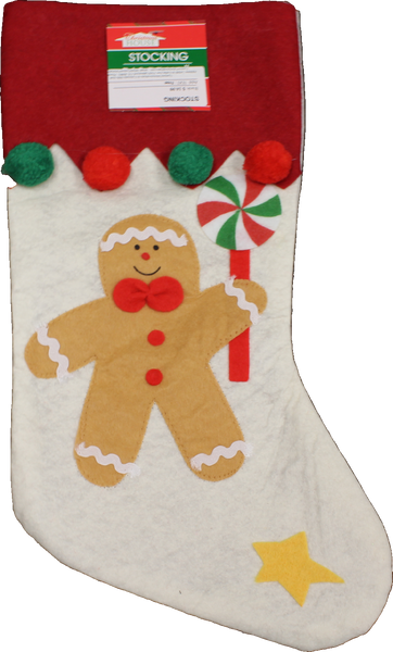 Christmas Stocking - Gingerbread Man