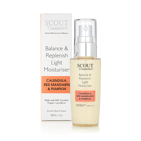 Balance & Replenish Light Moisturiser with Calendula, Red Mandarin & Pumpkin