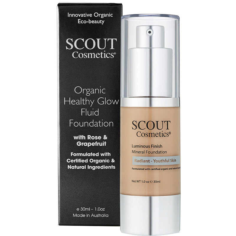 Organic Healthy Glow Fluid Foundation with Rose & Grapefruit