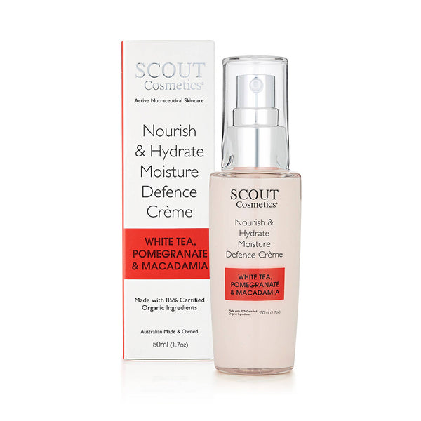 Nourish & Hydrate Moisture Defence Crème with White Tea, Pomegranate and Macadamia