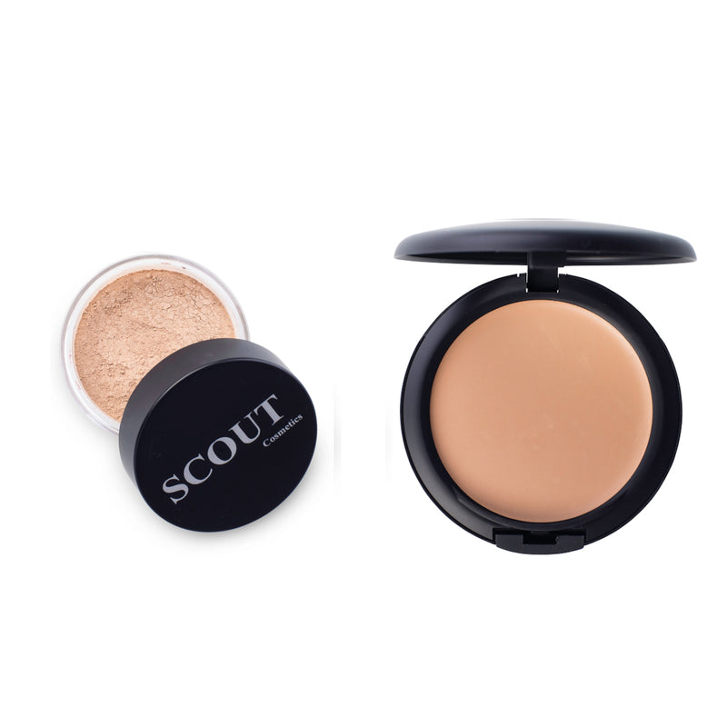Creme & Powder Foundation Set for Dry & Normal Skin