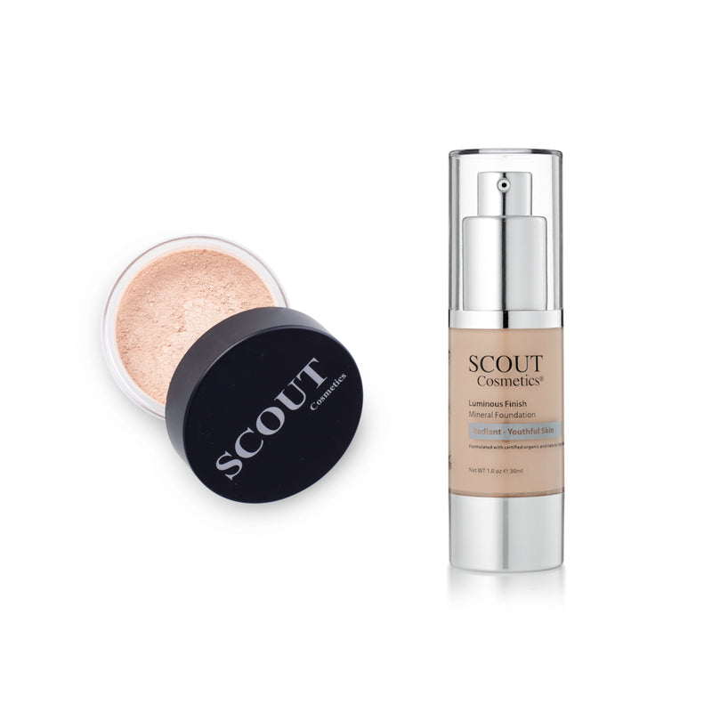Liquid & Powder Foundation Set for Oily & Normal Skin