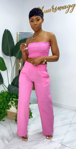 Malibu Pants Set (Hot Pink) - MuurSwagg